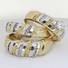 gold wedding ring sets unique engagement wedding ring sets 25ct tcw wedding ring set in