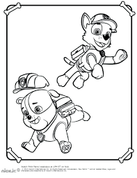 paw patrol colouring pages rubble coloring everest printable paw