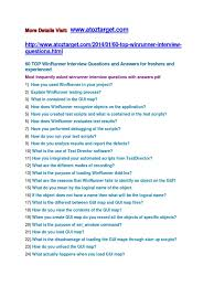What Is Map Testing Winrunner Interview Questions And Answers Graphical User