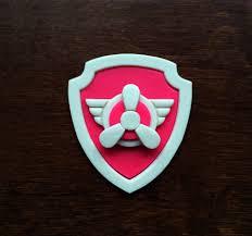 skye patrol cookie cutter set paw patrol badge fondant cutters
