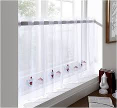 White Cafe Curtains Bedroom How To Make Cafe Voile Curtain Of