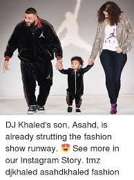 dj khaled s son asahd is already strutting the fashion show runway