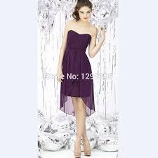 purple bridesmaid dresses 50 high quality purple high low wedding dresses buy cheap purple high