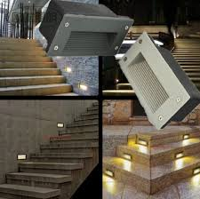 Recessed Wall Lights Outdoor Outdoor 3w Led Stairs Recessed Wall Light Led Step L Led