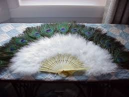held fan vintage held fans vintage peacock and ostrich feather fan