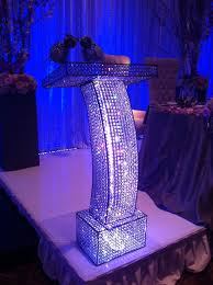 gorgeous crystal podium four seasons hotel pinterest wedding