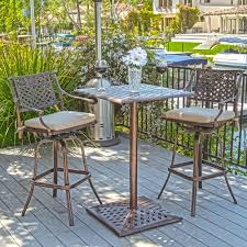 Bar Height Patio Table And Chairs Outdoor Bar Height Bistro Sets Video And Photos Madlonsbigbear Com