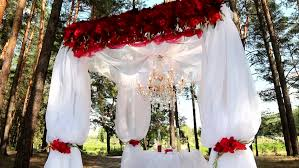wedding arches decor outdoor wedding setting for celebration of becoming family