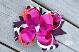 how to make a big loopy stacked hair bow the ribbon retreat