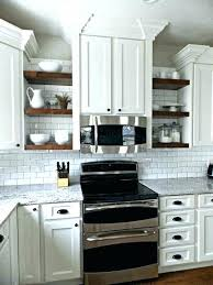 open cabinets in kitchen open shelf kitchen cabinet ideas large size of wall shelving
