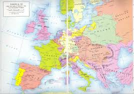Europe And Russia Map by 445