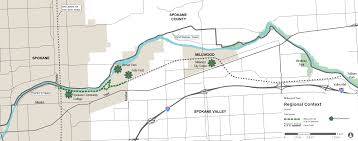 Map Of Spokane Millwood Trail Plan