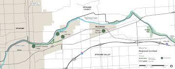 Spokane Map Millwood Trail Plan