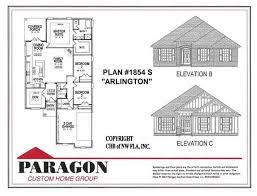Arlington House Floor Plan Paragon Custom Home Group Floorplans