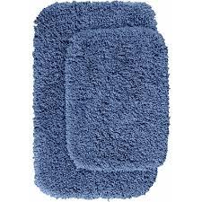 Shaggy Bathroom Rugs Serendipity Shaggy 2 Washable Bathroom Rug Set