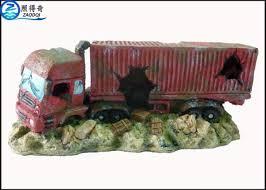 Ornaments For Trucks Simulation Big Truck Cool Fish Tank Decorations Custom Aquarium