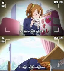 School Girl Meme - life of an anime school girl love live school idol project