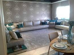 photo canapé marocain un très beau salon marocain moderne gris bleu turquois par l