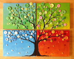 colorful button tree wall project the homestead