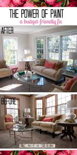 the power of paint living room before and after paint living room