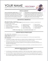 Sample Intern Resume by Interior Design Resume Template Interior Design Resume Template