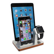 Nightstand Ipad Premium One W3 Triple Dock U0026 Charging Stand For Apple Watch