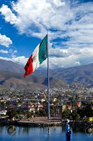 Picture Of Mexican Flag A Large Mexican Flag Flying At The Port Of Ensenada Stock Photo