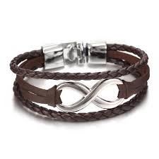 infinity bracelet leather images Leather infinity bracelet promotion free shipping with discount jpg