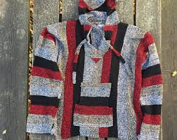 Mexican Rug Sweater Mexican Baja Hoodie Etsy