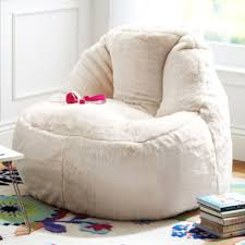 fur bean bag cream plush lounger ivory u0026 deene