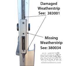 Patio Door Weatherstripping Commercial Door Astragal With Weatherstrip Fuzzy Astragal