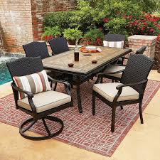 Agio 7 Piece Patio Dining Set - members mark agio collection heritage dining set toros outlet