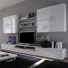 Xora Wohnzimmerschrank Weisse Wohnwand In Hochglanz Design
