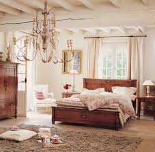 shabby chic bedroom interior design brown ceramic floor tile