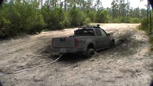 lifted nissan frontier nissan frontier stuck in the mud at corbett part 2 youtube