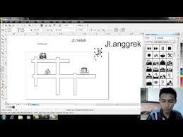desain rumah corel tutorial membuat denah rumah menggunakan corel draw youtube