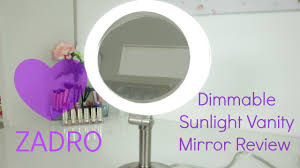 zadro dimmable florescent dual sided mirror review youtube