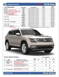 atlas volkswagen price new volkswagen atlas pricing