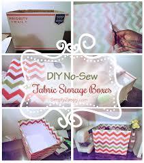 diy fabric boxes no sew u2022 simply zaspy