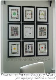 diy magnetic frame gallery wall to display children s work