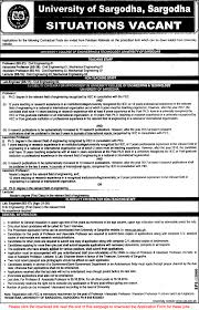 Best Buy Job App University Of Sargodha Jobs 2014 October Teaching Faculty For