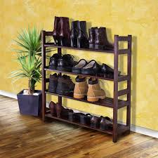shoe storage rack wood closet organizer shoes space saving shelf