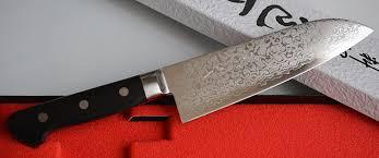 Japanese Damascus Kitchen Knives Japanese Kitchen Knife Santoku Damascus