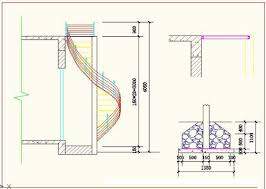 spiral staircase cad drawing free autocad drawing cad blocks