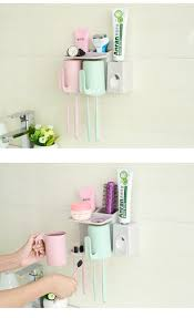 bathroom accessories suction cup toothbrush toothpaste tooth mug