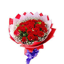 Roses Bouquet Send Bunch Of 24 Red Roses To Mumbai On Valentines Day Free Delivery