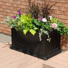 Lowes Patio Furniture Canada - mayne 5826 fairfield black 20 in x 36 in rectangular patio planter