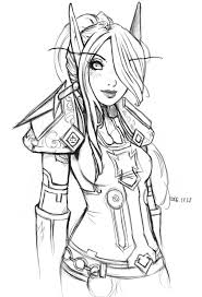 coloring pages of elf elf warrior coloring page elves and creatures pinterest elf
