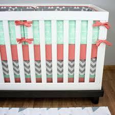 mint arrow crib bedding nursery bedding crib set mint gray coral