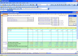Discounted Flow Analysis Excel Template Excel Financial Templates Present Value Npv